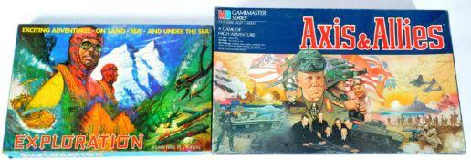 TWO BOXED ORIGINAL VINTAGE ADVENTURE BOARD GAMES