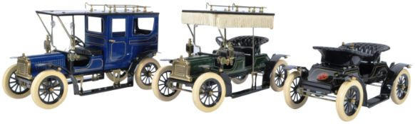 JAN BLENKEN GEORGE CARETTE LARGE SCALE PRESSED TIN MODEL CARS