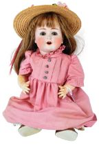 EARLY 20TH CENTURY GERMAN BISQUE HEADED DOLL