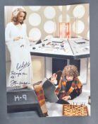 "DOCTOR WHO - K9 - JOHN LEESON & BOB BAKER SIGNED 16X12"" PHOTO"