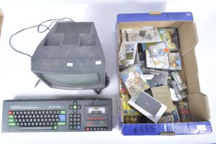 AMSTRAD CPC 464 PERSONAL COMPUTER, MONITOR AND GAMES