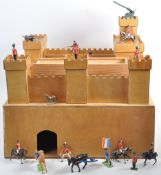 VINTAGE SCRATCHBUILT FORT WITH BRITAINS TOY SOLDIERS
