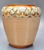 ROYAL DOULTON LAMBETH VASE OF TAPERED FORM