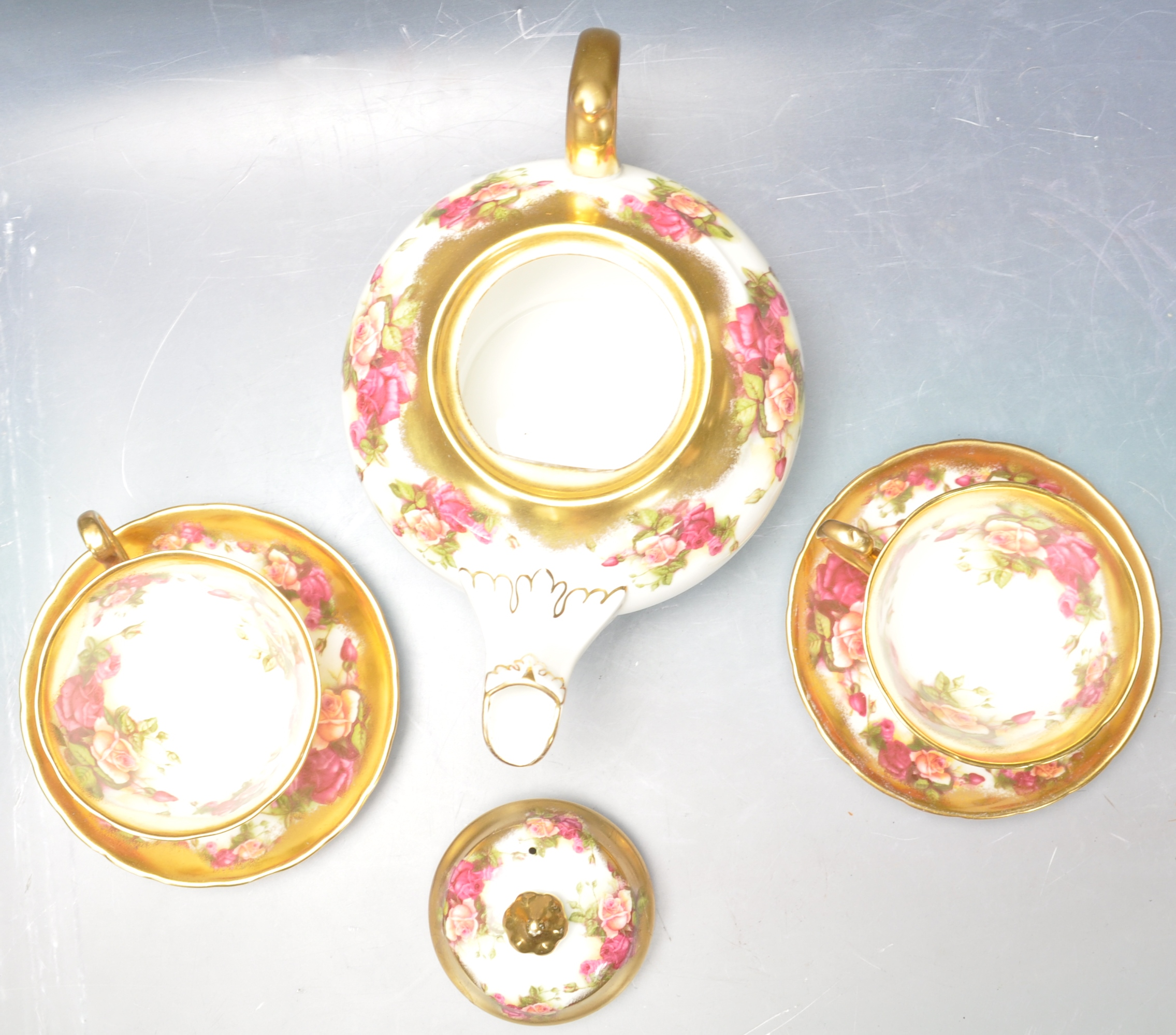 COLLECTION OF 20TH CENTURY ROYAL CHELSEA ENGLISH ROSE CHINA - Image 4 of 7