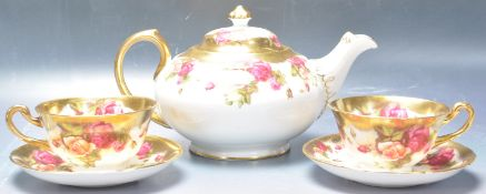 COLLECTION OF 20TH CENTURY ROYAL CHELSEA ENGLISH ROSE CHINA