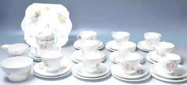VINTAGE 12 PERSON SHELLEY WILDFLOWERS TEA SERVICE