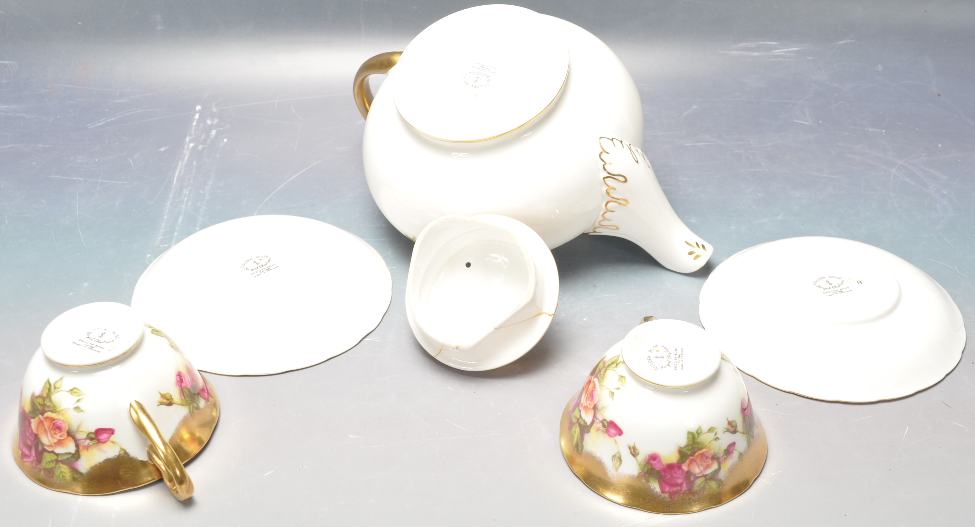COLLECTION OF 20TH CENTURY ROYAL CHELSEA ENGLISH ROSE CHINA - Image 5 of 7
