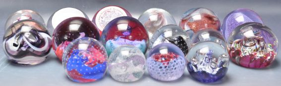 COLLECTION OF 20TH CENTURY CAITHNESS GLASS PAPERWEIGHTS,
