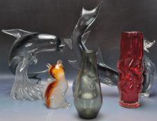 COLLECTION OF RETRO VINTAGE 1960S MID 20TH CENTURY STUDIO ART GLASS