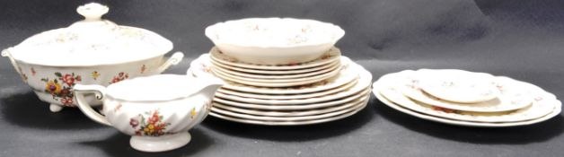COLLECTION OF VINTAGE 20TH CENTURY ROYAL DOULTON OLD LEEDS SPRAY
