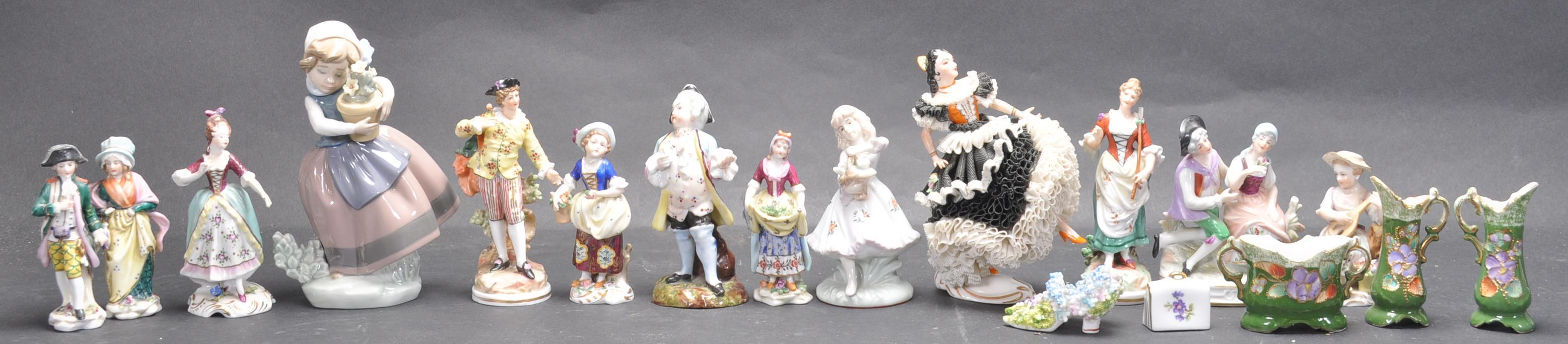 LARGE COLLECTION OF EARLY 20TH CENTURY CONTINENTAL FIGURINES
