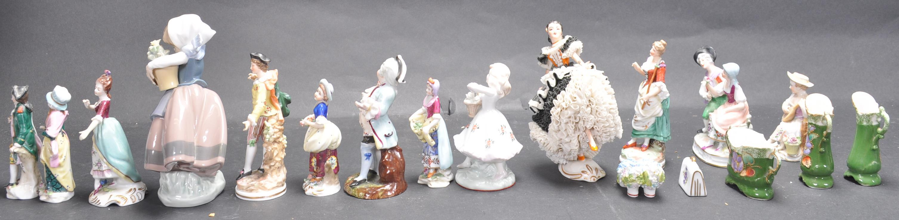 LARGE COLLECTION OF EARLY 20TH CENTURY CONTINENTAL FIGURINES - Image 4 of 6