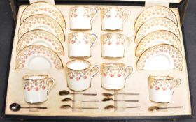 1930S ART DECO WEDGWOOD COFFEE AND SILVER SPOON SET