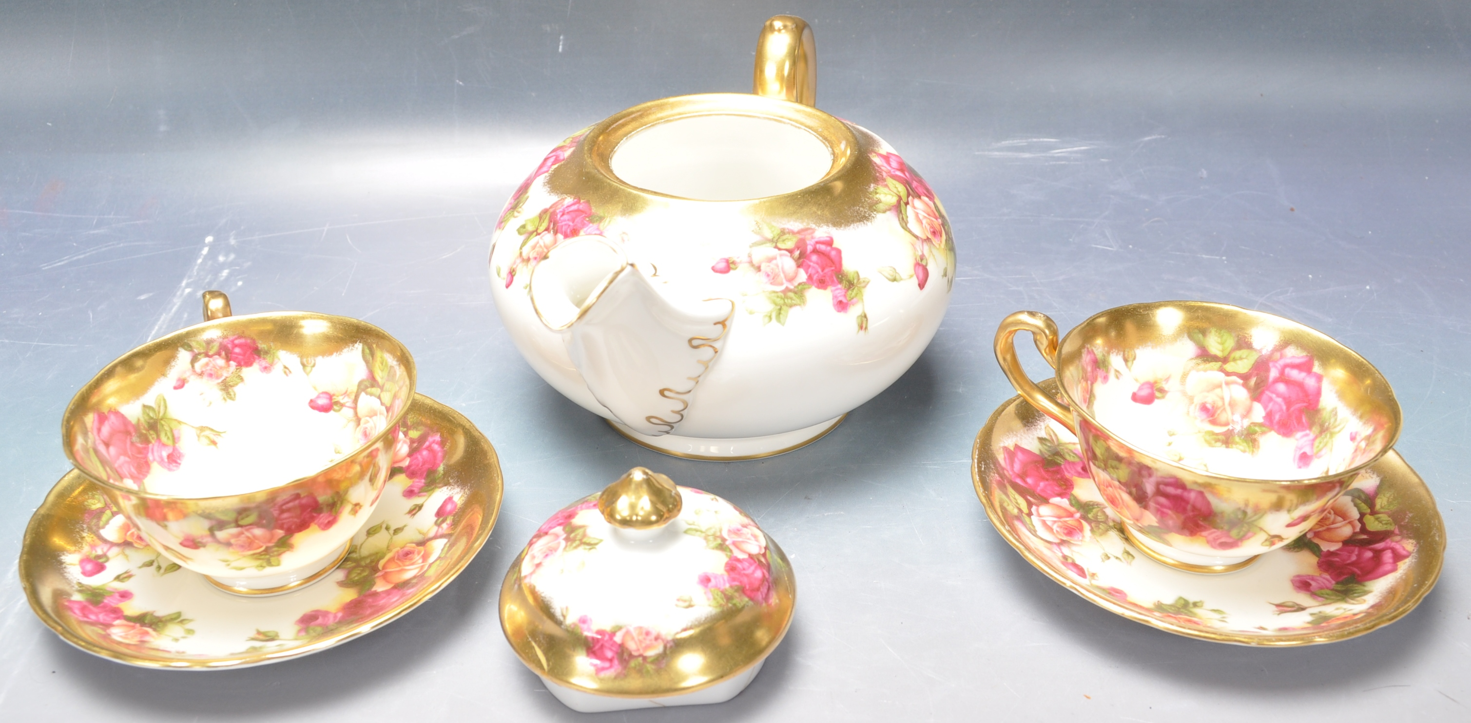 COLLECTION OF 20TH CENTURY ROYAL CHELSEA ENGLISH ROSE CHINA - Image 3 of 7