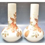 PAIR OF EARLY 20TH CENTURY FRENCH OPALINE VASES