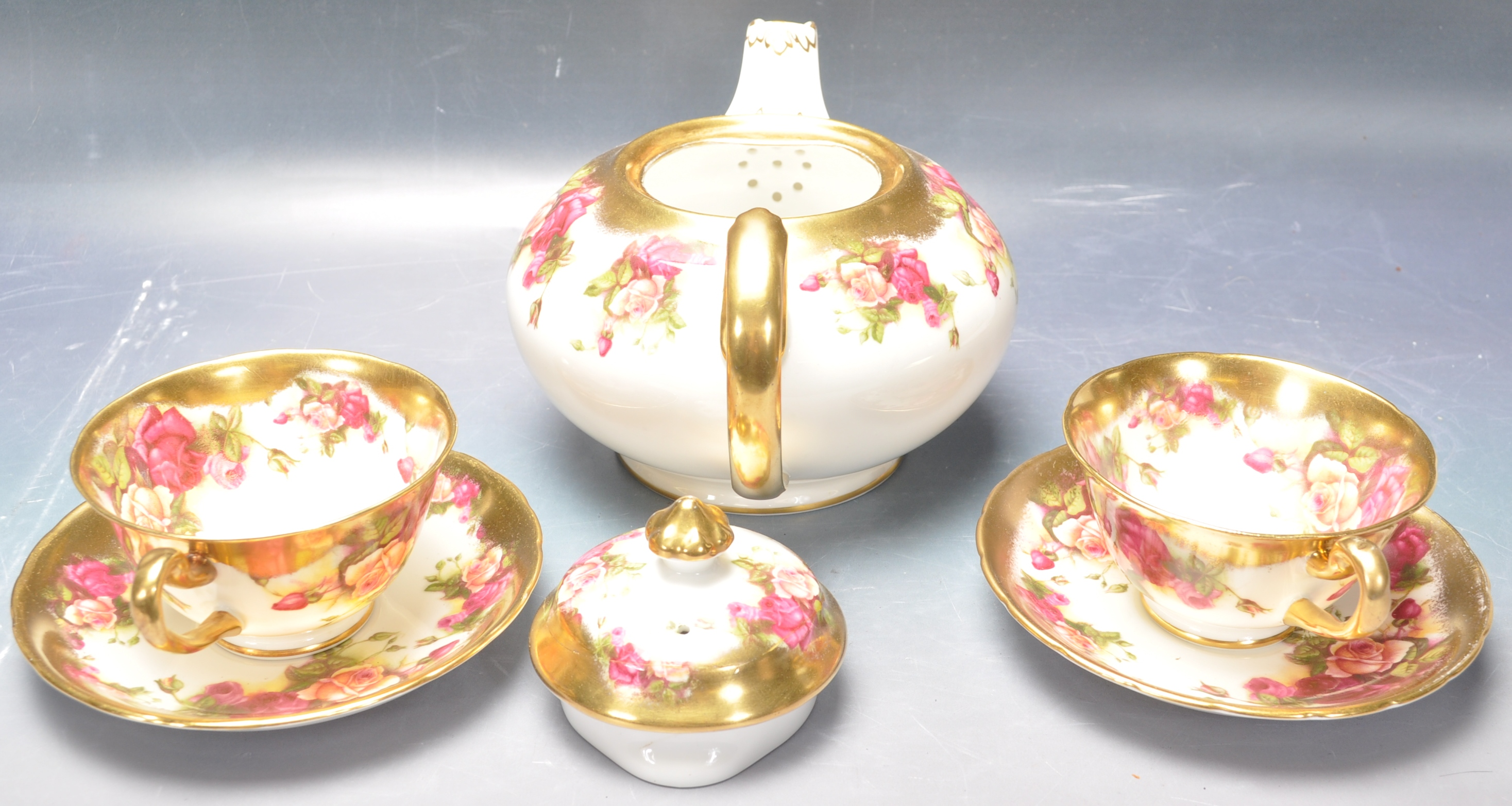 COLLECTION OF 20TH CENTURY ROYAL CHELSEA ENGLISH ROSE CHINA - Image 2 of 7