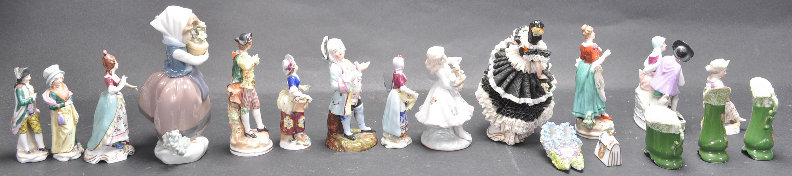 LARGE COLLECTION OF EARLY 20TH CENTURY CONTINENTAL FIGURINES - Image 2 of 6