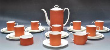RETRO VINTAGE 20TH CENTURY SUSIE COOPER PIMENTO TEA SERVICE