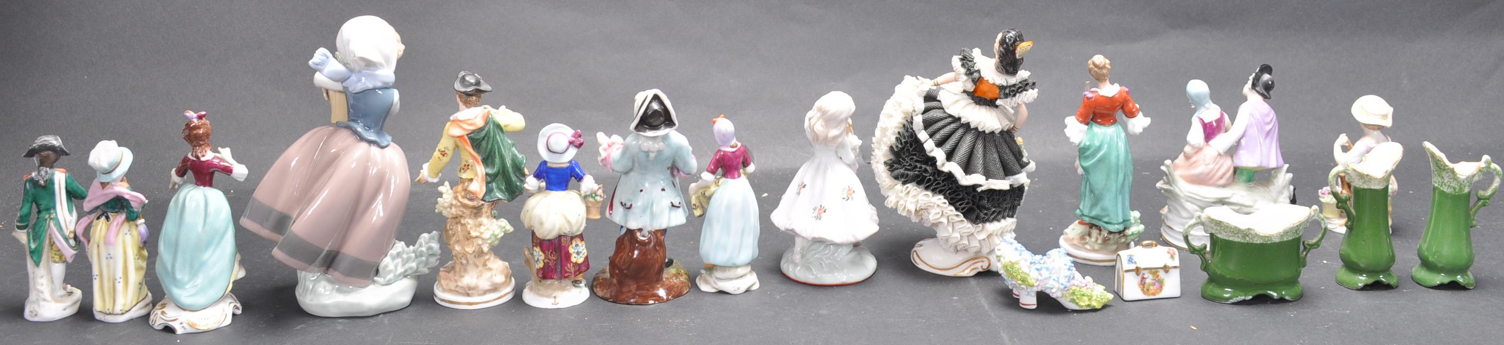 LARGE COLLECTION OF EARLY 20TH CENTURY CONTINENTAL FIGURINES - Image 3 of 6