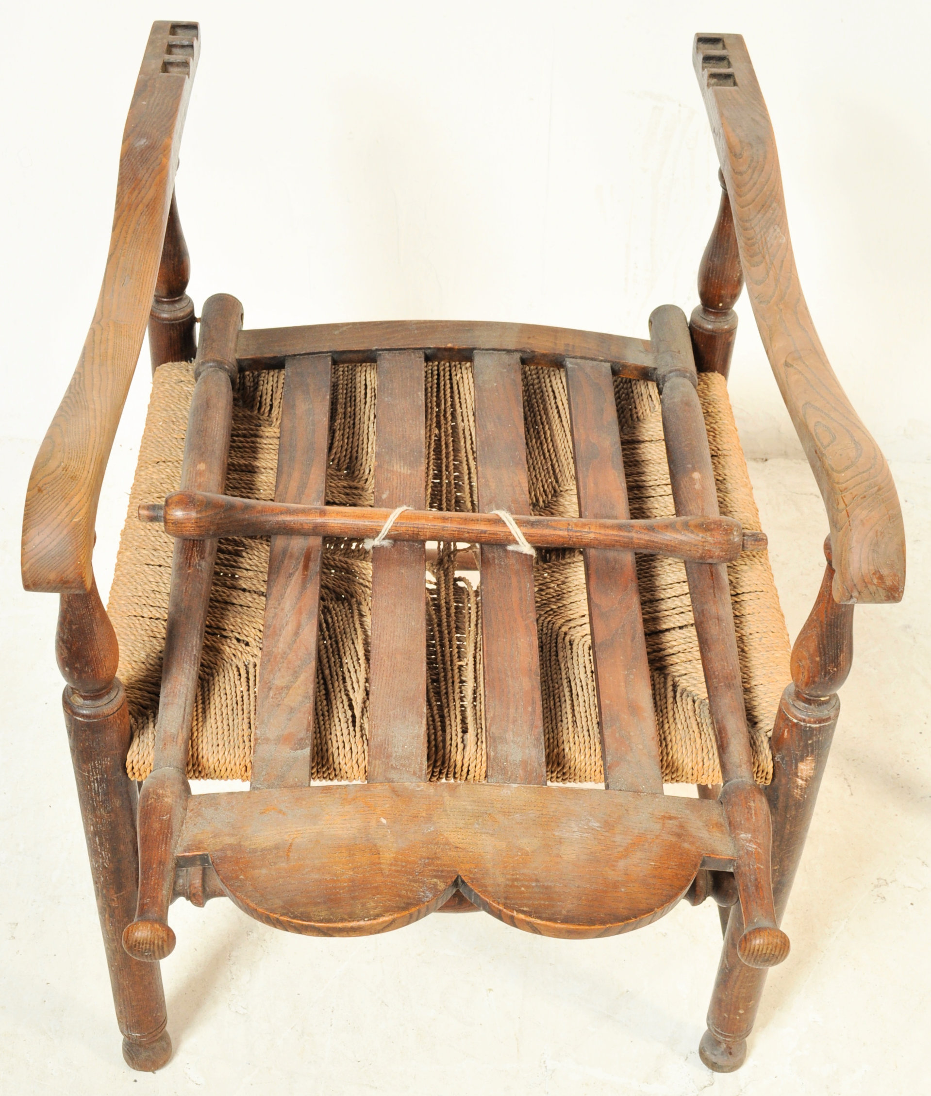 GEORGE II 18TH CENTURY RECLINING NORTH COUNTRY CHAIR WITH ANOTHER - Image 6 of 7