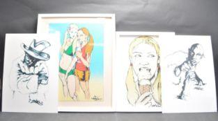 FOUR URBAN GRAFFITI ART PRINTS BY BRISTOL STREET ARTIST TAME