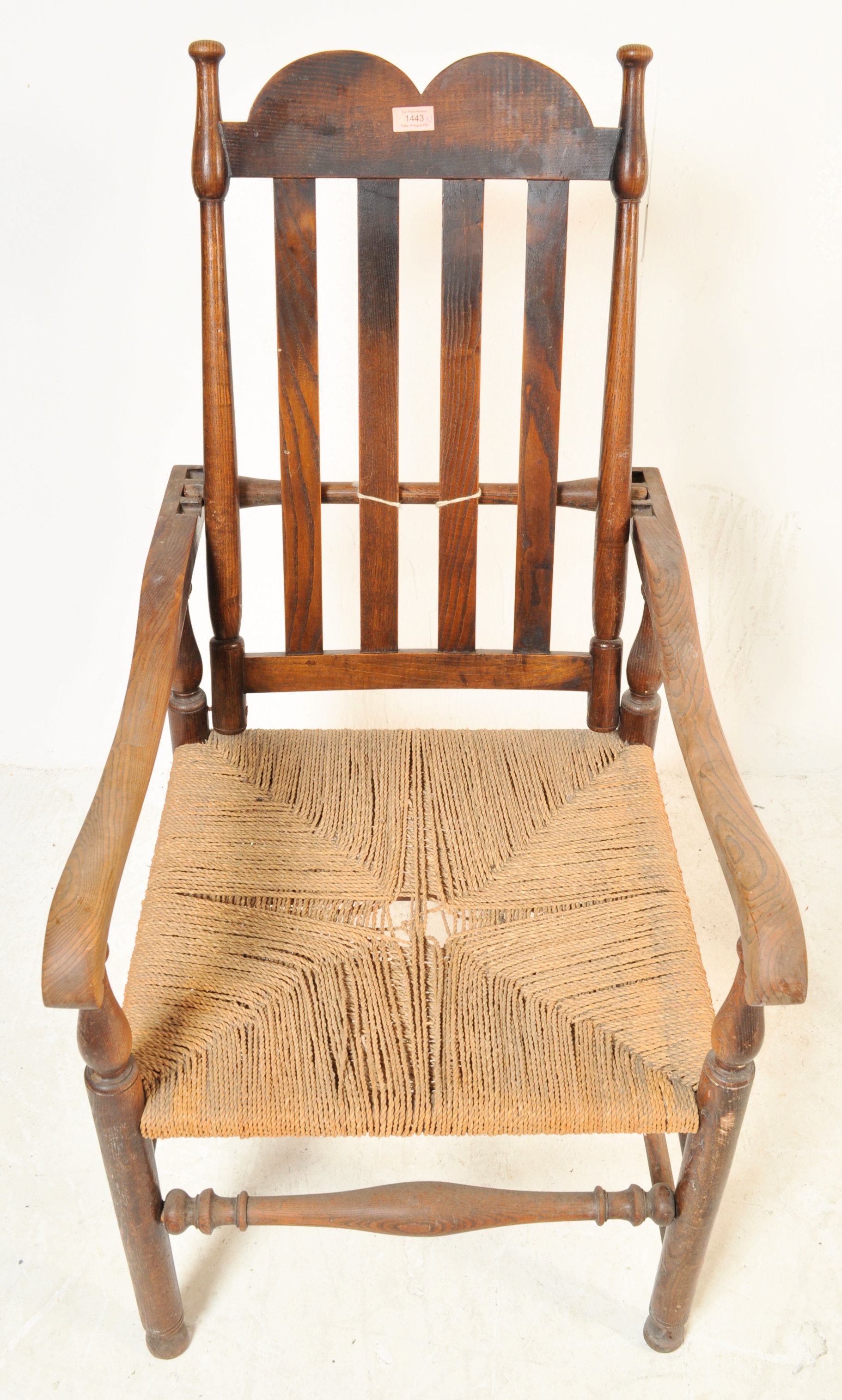 GEORGE II 18TH CENTURY RECLINING NORTH COUNTRY CHAIR WITH ANOTHER - Image 3 of 7