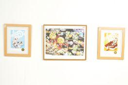 THREE CONTEMPORARY URBAN ART GRAFFITI PRINTS BY BRISTOL ARTIST CHEO.