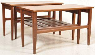 20TH CENTURY DANISH INSPIRED NEST OF TABLES
