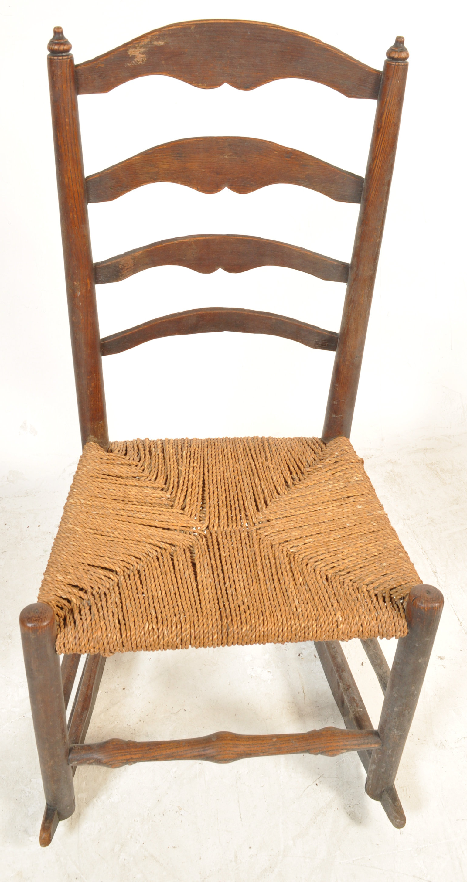 GEORGE II 18TH CENTURY RECLINING NORTH COUNTRY CHAIR WITH ANOTHER - Image 4 of 7
