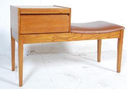 MID 20TH CENTURY TEAK WOOD TELEPHONE TABLE / SEAT