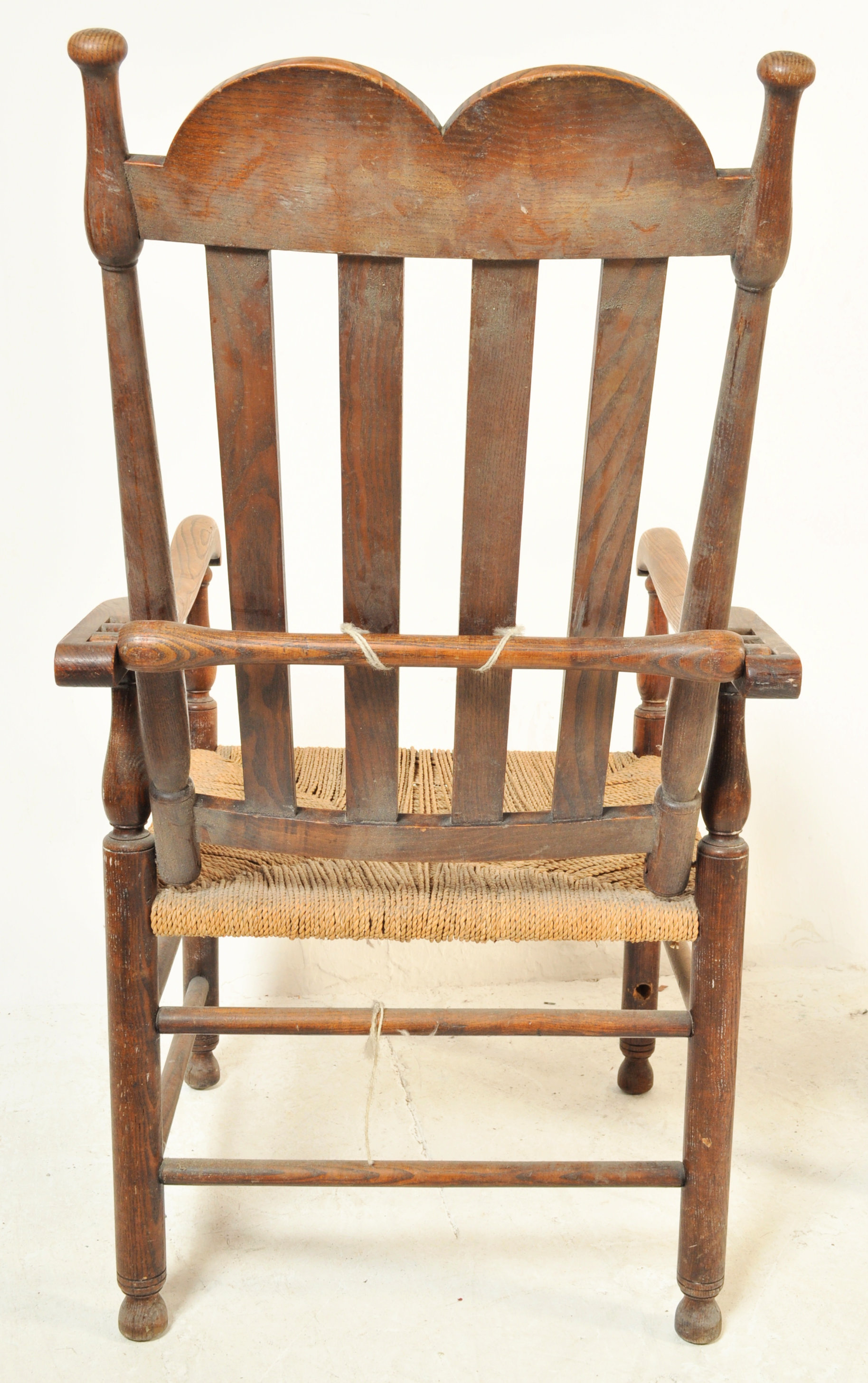 GEORGE II 18TH CENTURY RECLINING NORTH COUNTRY CHAIR WITH ANOTHER - Image 7 of 7