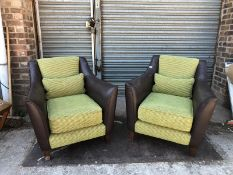 KESTERPORT MATCHING PAIR OF LOUNGE / LOBBY ARMCHAIRS