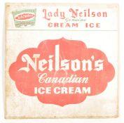 1970S 20TH CENTURY SINGLE SIDE NEILSON'S CANADIAN ICE CREAM SIGN