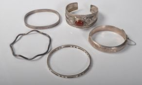 COLLECTION OF STAMPED 925 AND HALLMARKED SILVER BRACELETS