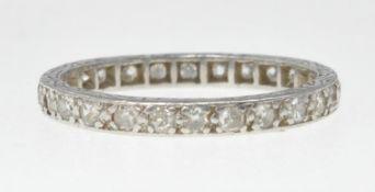 VINTAGE PLATINUM AND DIAMOND ETERNITY RING