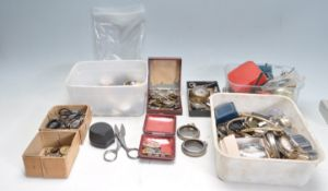 LARGE COLLECTION OF VARIOUS WATCH PARTS AND SPARES