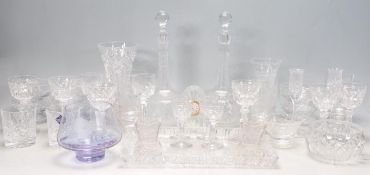 LARGE COLLECTION OF VINTAGE CRYSTAL CUT GLASS WARE