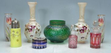 COLLECTION OF VINTAGE 20TH CENTURY CONTINENTAL GLASS