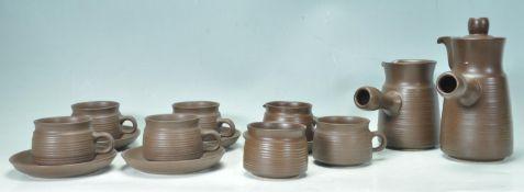 20TH CENTURY CLAY TEA SERVICE / COFFEE SET