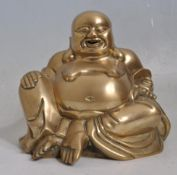 VINTAGE 20TH CENTURY BRASS BUDDHA