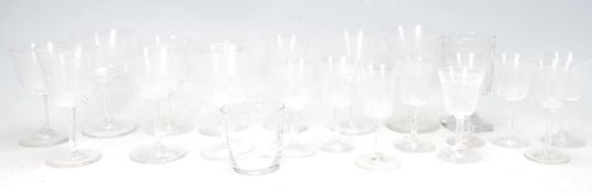 COLLECTION OF 19TH CENTURY VICTORIAN ENGRAVED GLASES