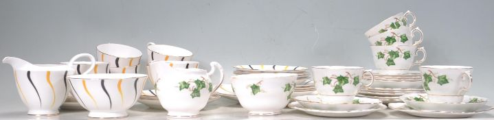 TWO BONE CHINA TEA SERVICES TO INCLUDE COLCLOUGH.