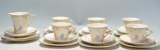 20TH CENTURY ART DECO BURSLEM MOORLAND PATTERN TEA SERVICE