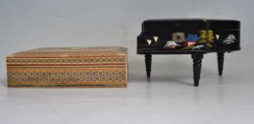 TWO 20TH CENTURY JEWELLERY BOXES
