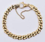 9CT GOLD FANCY CURB LINK BRACELET