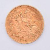 1914 GEORGE V 20TH CENTURY GOLD HALF SOVEREIGN