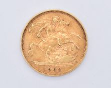1902 EDWARDIAN 22CT GOLD HALF SOVEREIGN