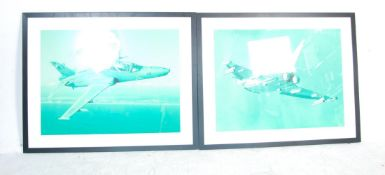 LARGE PAIR OF 20TH CENTURY PRINT OF JET AIRCRAFT