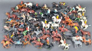 LEAD FIGURES - LARGE COLLECTION OF HORSEBACK FIGURES