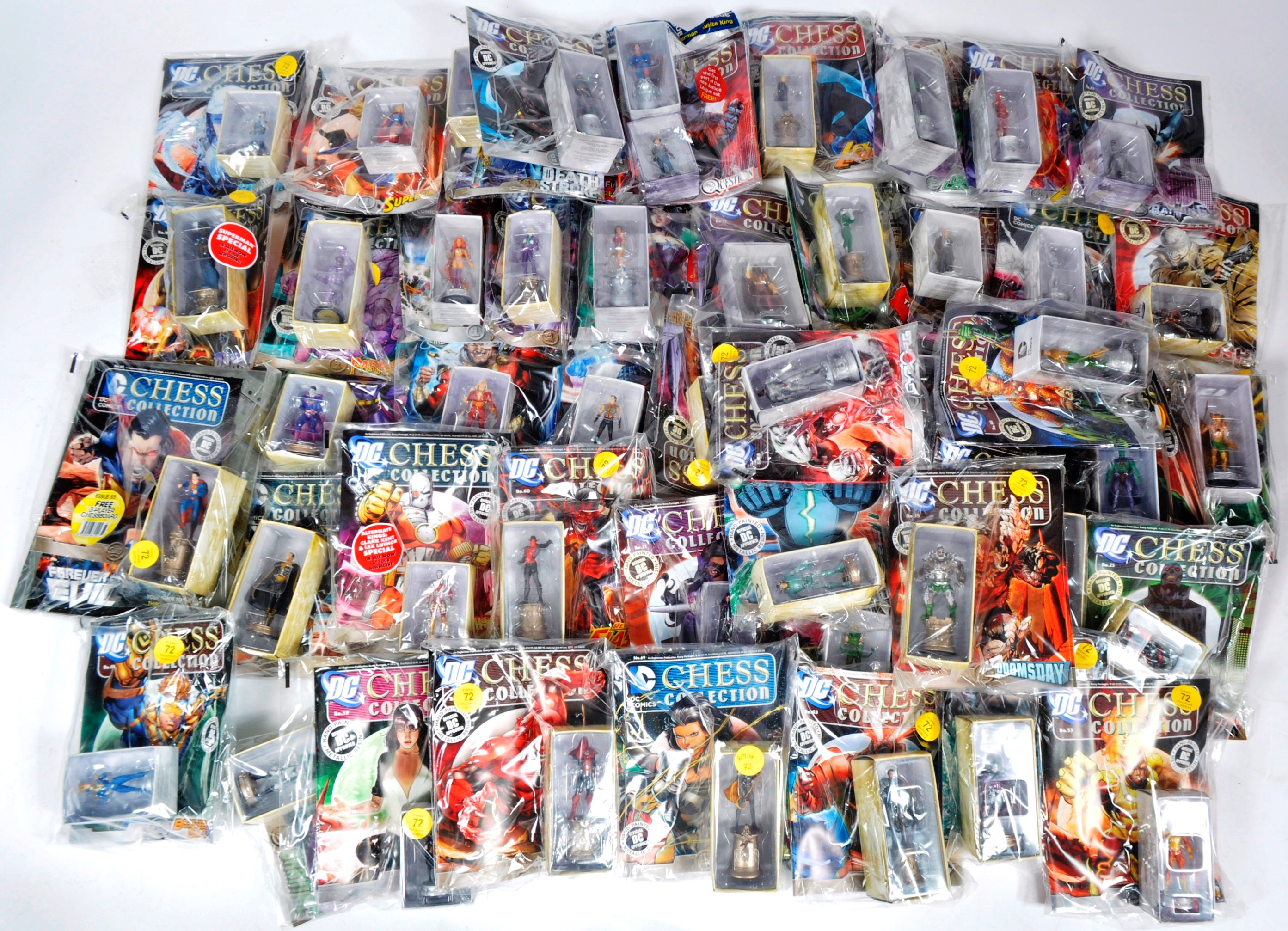LARGE COLLECTION OF ASSORTED DC COMICS COLLECTIBLE CHESS PIECES